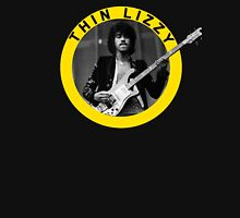 THIN LIZZY PHIL LYNOTT (YELLOW) Womens Fitted T-Shirt