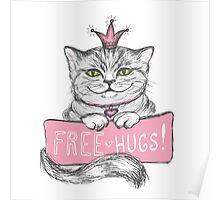 Cute hand drawn card Poster