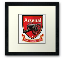 Arsenal The Gunners Cannon Bang Framed Print