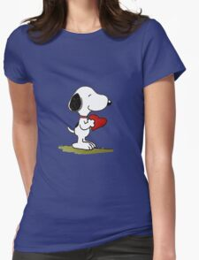 Snoopy In Love Womens Fitted T-Shirt