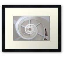 Spiral Staircase Shape Eye Framed Print