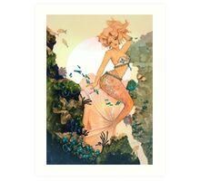 Rose Mermaid Art Print
