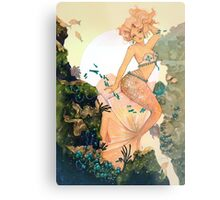 Rose Mermaid Metal Print