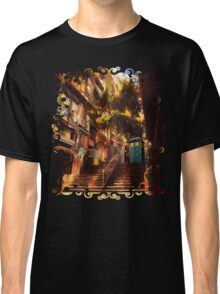 Time Traveller lost in china town art painting Classic T-Shirt