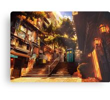 Time Traveller lost in china town art painting Metal Print