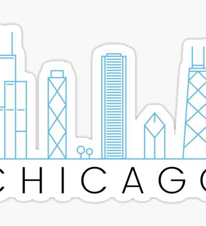 Chicago skyline - minimalist and modern Sticker