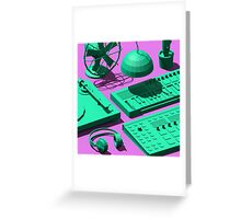 Low Poly Studio Objects 3D Illustration Greeting Card