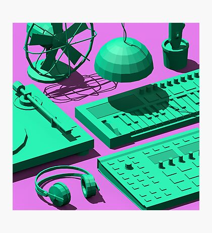 Low Poly Studio Objects 3D Illustration Photographic Print