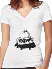 FatMan Women's Fitted V-Neck T-Shirt
