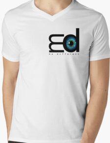 Me Mood Music - Logo (Be Different) Mens V-Neck T-Shirt