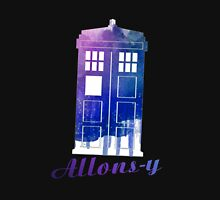 Allons-y TARDIS Watercolor Art Women's Relaxed Fit T-Shirt