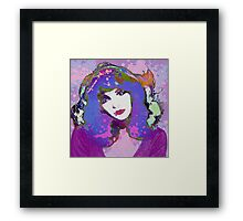 Painted Kate Framed Print