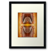 Glowing Brown Glass Abstract Framed Print