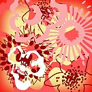 Red Floral Colour Splash Version 1 (see description) by Ra12