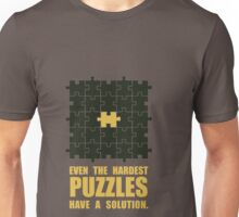 Even The Hardest Puzzles Have A Solution - Corporate Start-Up Quotes Unisex T-Shirt