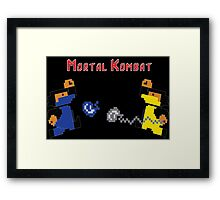 Retro Mortal Kombat Framed Print