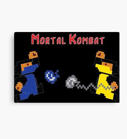 Retro Mortal Kombat Canvas Print