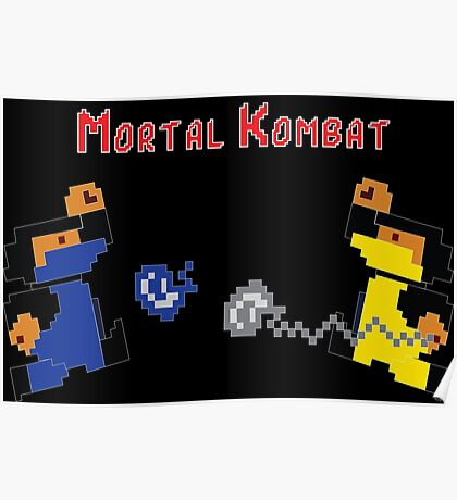 Retro Mortal Kombat Poster
