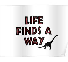 Jurassic Park - Life Finds a Way Poster