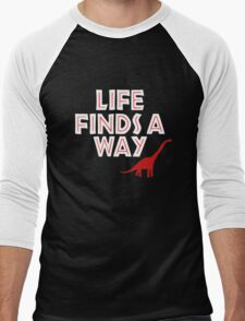 Jurassic Park - Life Finds a Way Men's Baseball ¾ T-Shirt