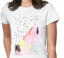 Polka Dots & Paint Womens Fitted T-Shirt