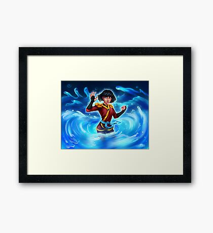 Water Ninja Framed Print