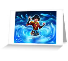Water Ninja Greeting Card