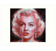 ScribbleMarilyn Art Print