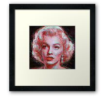 ScribbleMarilyn Framed Print