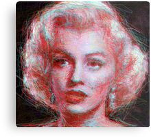 ScribbleMarilyn Metal Print