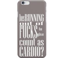 running out of fucks iPhone Case/Skin