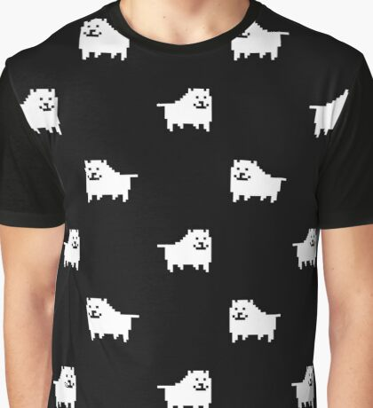 Undertale Annoying Dog - Black Graphic T-Shirt