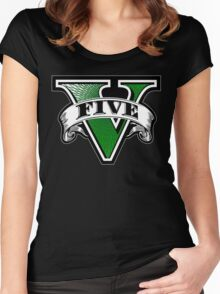 GTA 5Five Women's Fitted Scoop T-Shirt