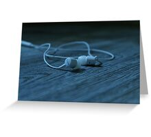 head phone Greeting Card