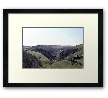 The Valley Of Stone Framed Print