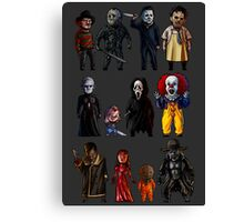 Icons of Horror Canvas Print