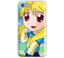 chibi blond girl iPhone Case/Skin