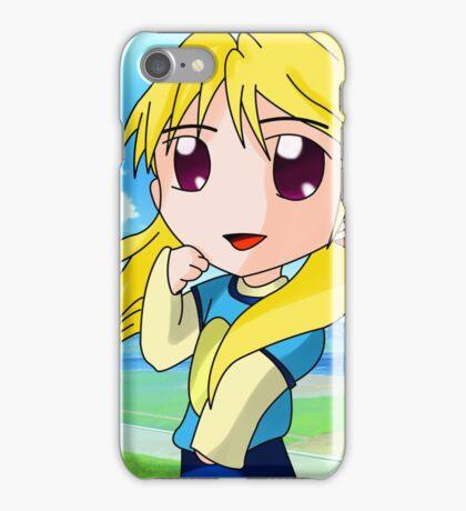 chibi blond girl iPhone Case/Skin