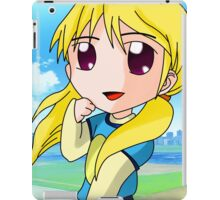 chibi blond girl iPad Case/Skin