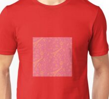Paris Seamless Pattern with Eiffel Tower and Travel Elements Unisex T-Shirt