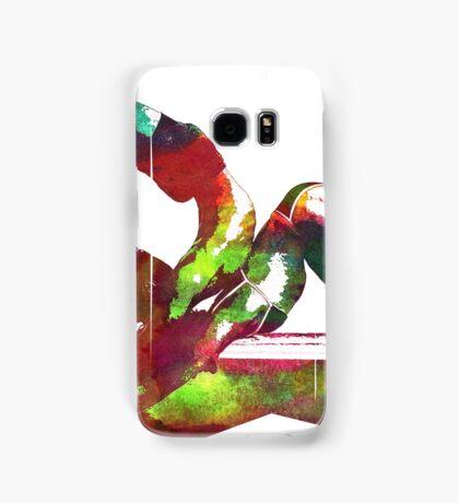 Couple yoga watercolour art Samsung Galaxy Case/Skin