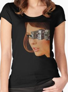 I'm Watching You! Women's Fitted Scoop T-Shirt