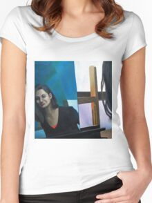 Mirror, 2011, 100-100cm, oil on canvas Women's Fitted Scoop T-Shirt