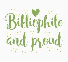 bibliophile and proud Kids Tee