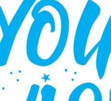 As you wish FROZEN (blue hipster magic quote) Sticker