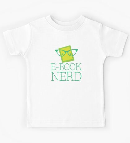 e-book nerd Kids Tee
