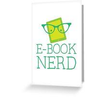 e-book nerd Greeting Card