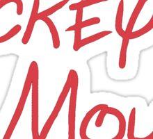 Mickey Mouse Signature Sticker