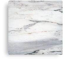 White marble Canvas Print