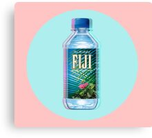 Fiji Water vaporwave  Canvas Print